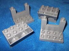 LEGO DUPLO  RITTERBURG 4 X ZINNEN ZINN aus 4777  + 4776 + 4779 + 4785 GRAU RAR