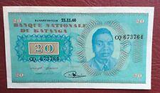 Katanga - Congo Belge - Belgique - Près de Superbe  20  Francs du 20-11-1960