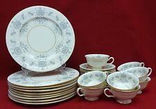CASTLETON china CAPRICE pattern 27-piece SET - Nine (9) Cup Saucer Dinner Plate