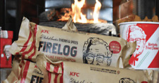KFC 11 Herbs and Spices ENVIROLOG Kentucky Fried Chicken FIRE LOG - NEW