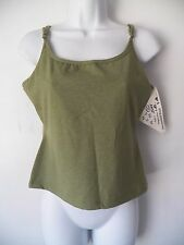 Latitude, Freedom of Action, Skin Tight, Tank Top, Cami, Green, Extra Large