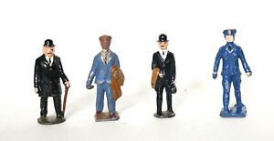 Vintage 4  Standing Men/  Lead Toy Figure -Made in England and USA