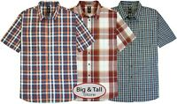 Big & Tall Men's Dickies Relaxed Fit Plaid Shirt 3XL – 6XL 3XLT – 6XLT