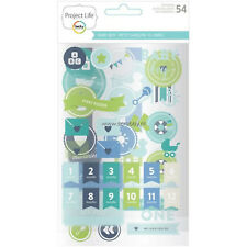Project Life BABY BOY (54) CHIPBOARD STICKERS scrapbooking 380546