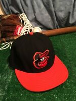 Baltimore Orioles New Era 59fifty Fitted Hat Size 7 1/8 On The Field Cap H10
