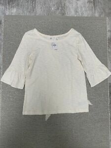 Gap Kids Ivory Sparkle Ruffle T-shirt Size 12 NWT Free Shipping