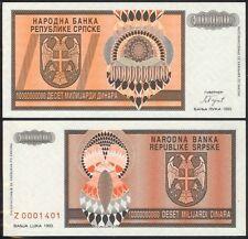 BOSNIA-HERZEGOVINA 10,000,000,000 DINARA 1993 P148 UNC