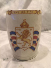 """Collectible Vintage RAF """"BWRS"""" Ceramic Drinking Cup """"British War Relief Society"""""""