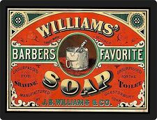 WILLIAMS SOAP Vintage Advertisement  ON ALUMINUM  9 X 12 SIGN  Wall Decor - NEW