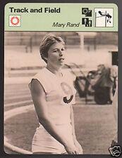 MARY RAND British Long Jump Pentathlon Track & Field 1979 SPORTSCASTER CARD 3815