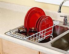 Sink Dish Drainer Storage Tray Dryer Strainer Dish Drying Rack Rinsing