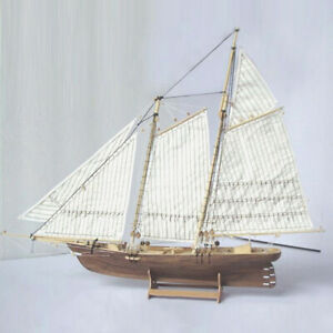 1:70 Wooden Sailing New Port Boat Model Kit Ship Self Assembly Decor Gift DIY UK