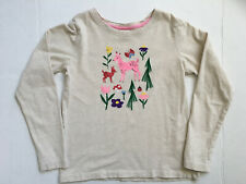 Hanna Andersson girls long sleeve sueded shirt deer, flower tree size 130 (Us 8)