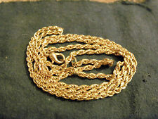 bling gold plated 3mm 16in long rope chain hip hop necklace jewelry fat dookie