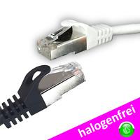 CAT 5e SF/UTP 25m DSL Netzwerkkabel Internetkabel Gigabit weiß schwarz