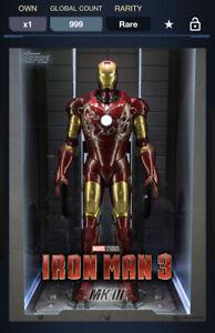 Topps Marvel Collect DIGITAL IRON MAN 3 SUIT UP IRON MAN MK III 1000CC