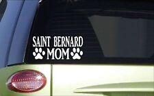 Saint Bernard Mom *H864* 8 inch Sticker decal whiskey barrel collar
