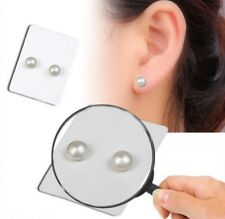 2x Pearl Stud Earrings White Jewelry