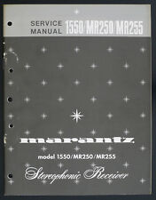 Marantz Modèle 1550/MR250/MR255 Original Stereophonic Récepteur Manuel de