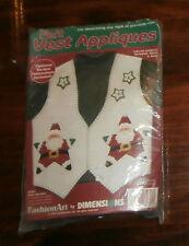 Santa Star Felt Vest Appliques Kit Dimensions Opened Christmas