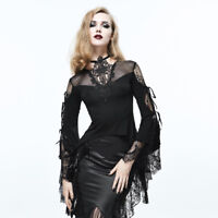 Eva Lady ETT006 gothic lace corset tail flared sleeves top