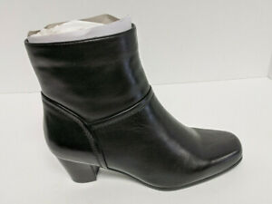 David Tate Model Ankle Booties, Black Leather, Women's 7.5 Wide