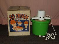 VINTAGE KITCHEN 1960S SEARS ROEBUCK 4 QUART ELECTRIC ICE CREAM MAKER IN BOX