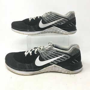 Nike Metcon DSX Flyknit Athletic Training Shoes Sneakers Lace Up Black Mens 10.5
