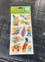 New Vintage 1990 The Simpsons Puffy Stick-Ons Stickers Un-opened