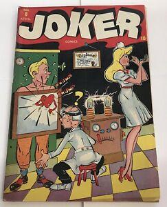 Golden Age Joker Comics #8 Timely Comics RARE VG-   (345)