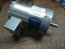 Baldor 1HP 208-230/460VAC 3Ph 1740RPM 143TC TENV Washdown Duty Electric Motor