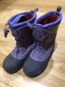 North Face Snow Boots Girls Purple (Size US 6 UK 5 EU 38)