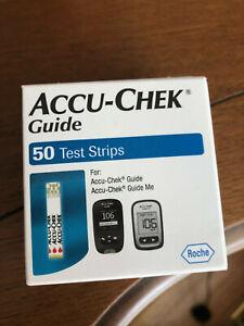 NEW Accu-Chek Guide Glucose Blood Test Strips. 50 Ct/Box Exp=01/12/2022