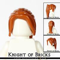 LEGO Minifigure Hair DARK ORANGE 62696 Female Girl Ponytail Long with Side Bangs