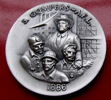 1972 Sterling Silver 1.2ounce Sam Gompers Silver Medal mintage of 5,000 w Holder