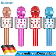 Wireless Bluetooth Karaoke Mikrofon Lautsprecher Mic KTV Microphone USB AUS TF