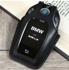 Black Leather Remote Key Case Cover For BMW 2016 2017 7 Series G11 G12 Display