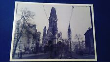 Historisches Berlin AK Kriegszerstörte Kaiser Wilhelm Gedächtniskirche 1945