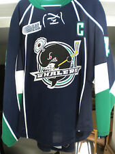 "2013-14 OHL PLYMOUTH WHALERS ""C"" NICK MALYSA GAME WORN HOCKEY JERSEY"