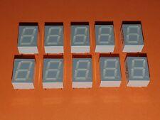 10x 7-Segment LED Anzeige 10mm rot TDSR3160 gem. Kathode
