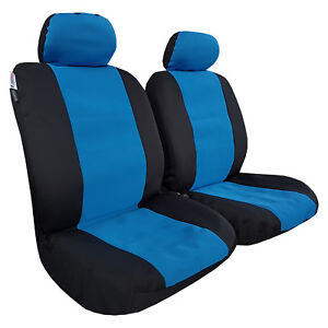 Blue Black Wetsuit Waterproof Neoprene Front Airbag Seat Covers Double Stitching