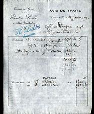 """CLERMONT-FERRAND (63) TISSUS en gros & BONNETERIE """"PONT & LABBE"""" en 1919"""
