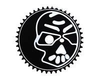 "NEW! Lowrider Bicycle Skull Sprocket 1/2"" X 1/8"" 44t Black/White Chopper Bike"