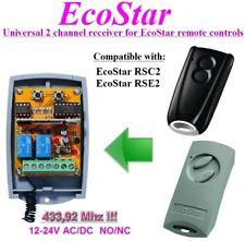 EcoStar compatible universal 2-channel receiver 12-24 VAC/VDC, N.O / COM / N.C