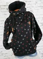 Damen Kapuzenpullover Sweatshirt warmer Fleece Pulli Hoodie M L XL 2XL 3XL K01