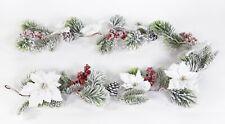 Weihnachtsstern- Tannengirlande 160cm weiß DP künstliche Girlande Weihnachten