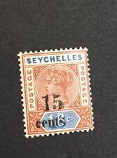 Seychelles 1893 Scott 24A VF Mint Hinged