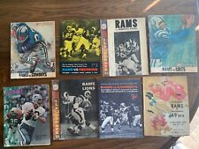 RAMS PROGRAMS 1960 1962 1964 1966 1972 Check out the old photos, ads, cars, fads
