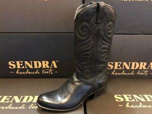Sendra Boots Cowboystiefel Westernstiefel  Reitstiefel 1627 Schwarz