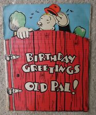 Popeye Character Wimpy Hallmark Pop-Up Birthday Card King Features 1934